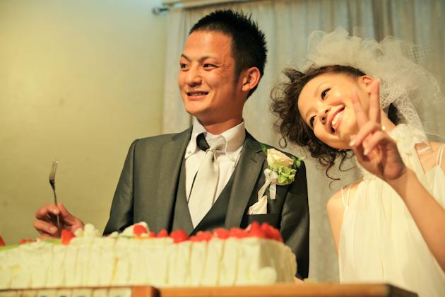 野山さん フェリシア ウエディングパーティー ケーキ