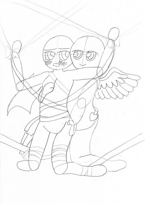 百合イラスト・ハード・「天使のお仕置き」