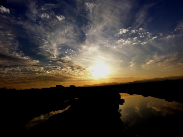 2011111の入間川の日の入り
