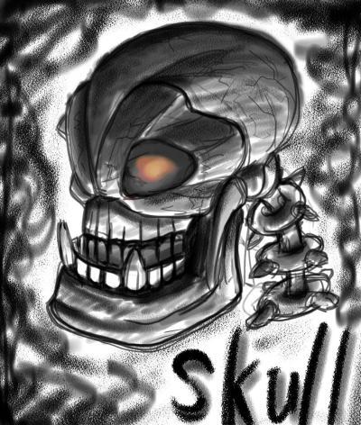 skull 縮小