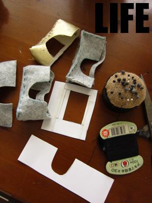 革工作前の型紙作り