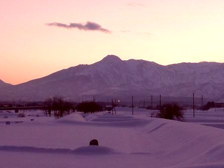 妙高山の夕暮れ