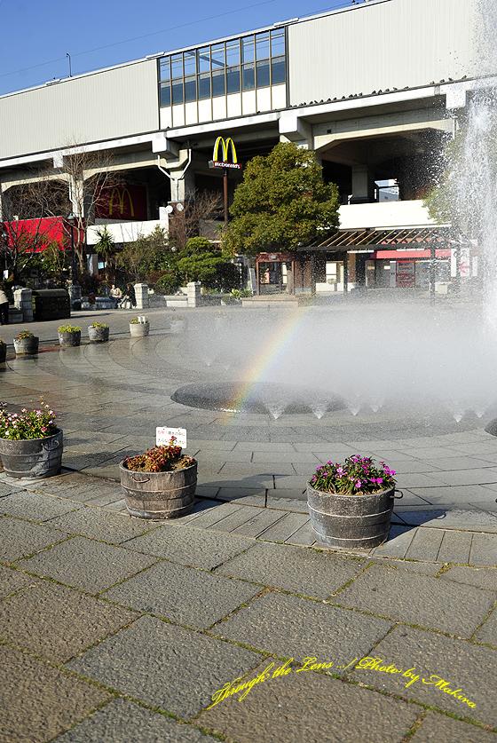 駅前噴水虹