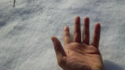 気血の流れㇳ雪景色
