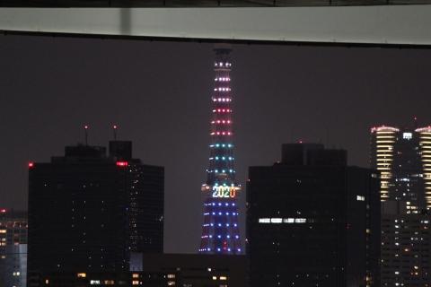 お台場海浜公園からの東京タワー(20131223)