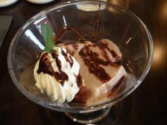 cafe de 心粋 チョコバナナプリン