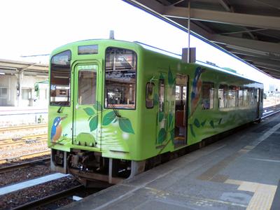 「こもれび号」岩国駅にて