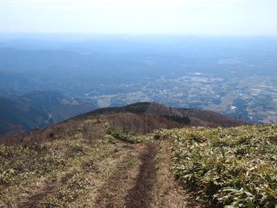 那岐山山頂付近笹原