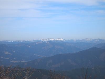 那岐山最高点から
