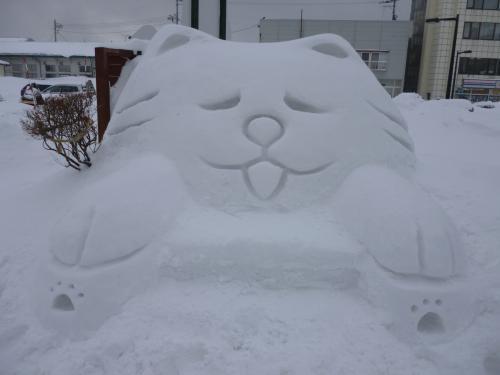 わさお雪像①