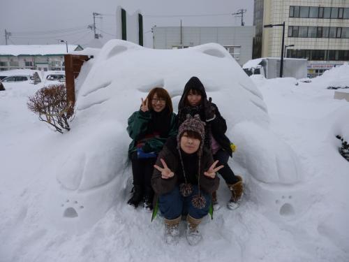 わさお雪像②