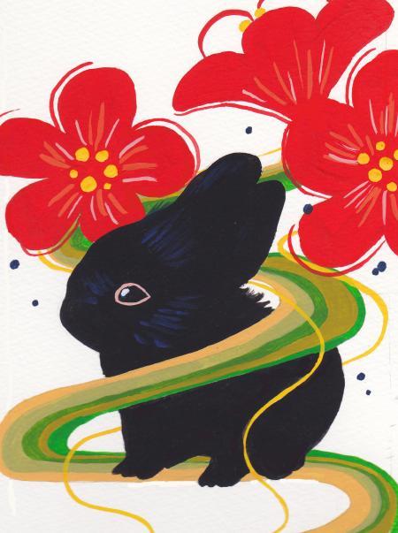 年賀ウサギ