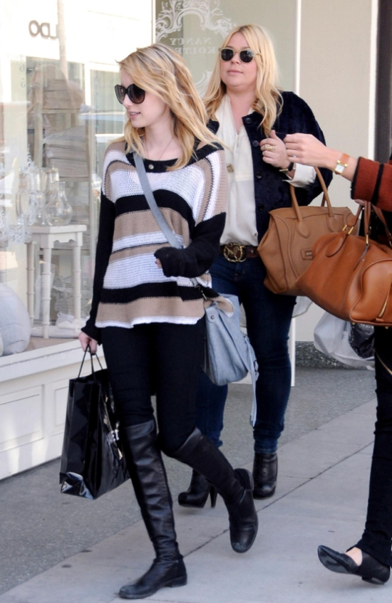 shopping at Chanel in Beverly Hills