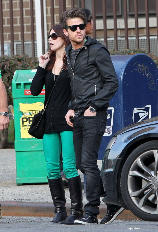 Ashley Greene and Jared Followill leaving a Pub in NY