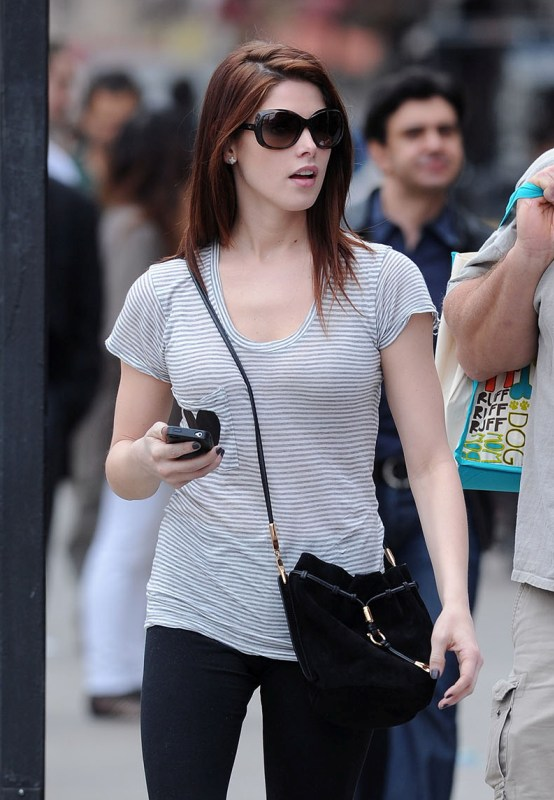 Ashley Greene out shopping with Dad in NY