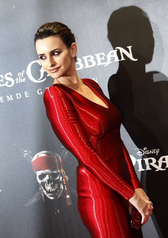 Penelope Cruz attends German premiere of Pirates Of The Caribbean