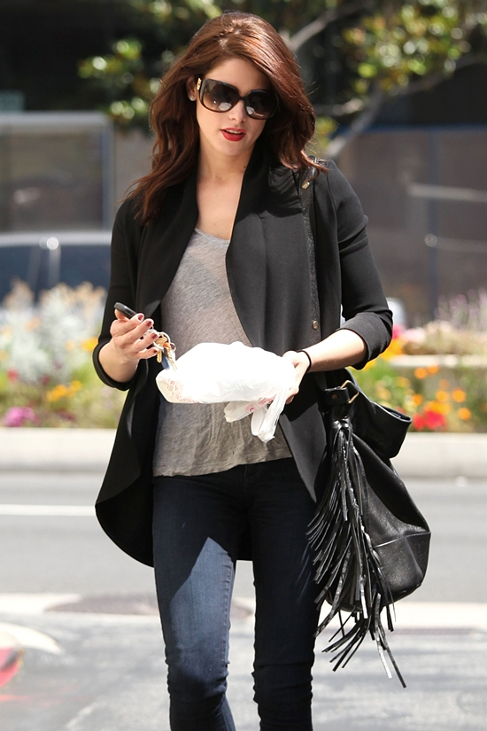 Ashley Greene grabs lunch at Cafe Med