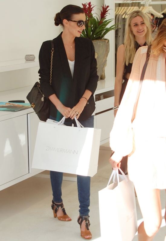 Miranda Kerr shopping at Zimmerman in Beverly Hills