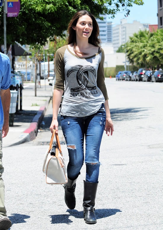 Emmy Rossum at The Novel Cafe in LA