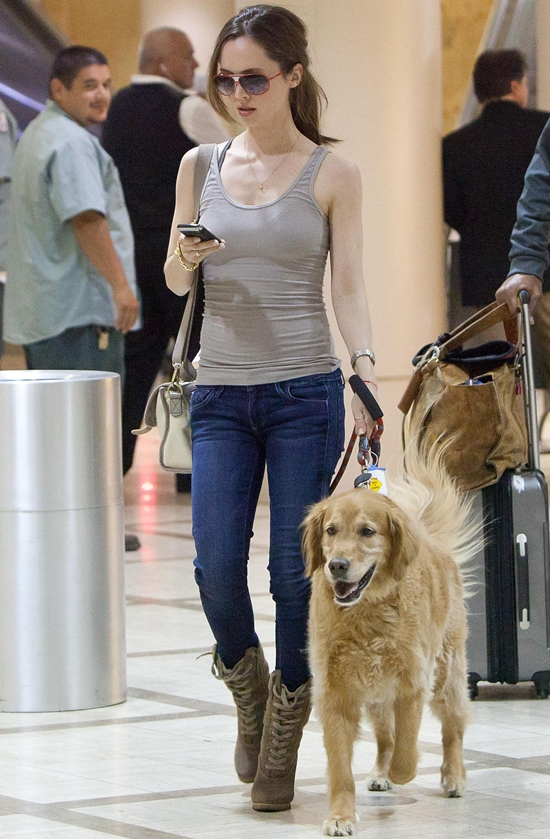 Eliza Dushku at Los Angeles International