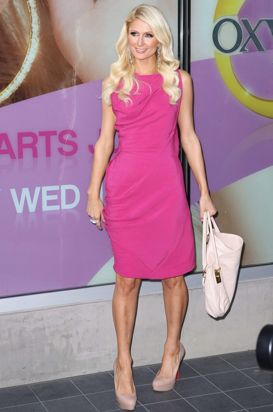 Paris Hilton At Oxygen Network in Santa Monica