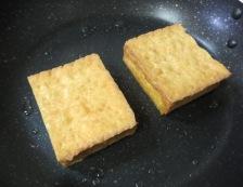 厚揚げステーキ 調理②