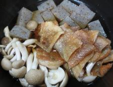 うずらと鶏皮のうま煮 調理②