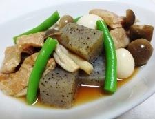 うずらと鶏皮のうま煮 調理④
