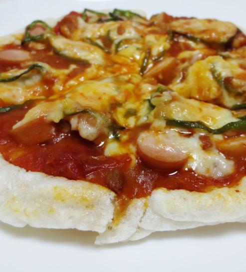 お餅ピザ 拡大