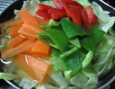 白身魚ホイコーロー 調理③