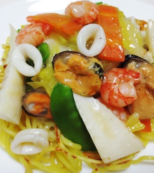 海鮮炒麺シーフードミックス 拡大