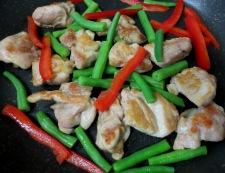 鶏肉のわさびポン酢炒め 調理②