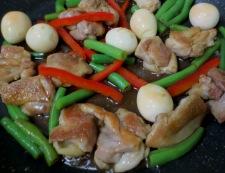 鶏肉のわさびポン酢炒め 調理④