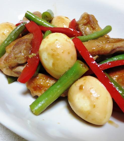 鶏肉のわさびポン酢炒め 大