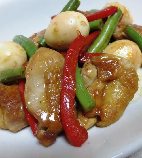 鶏肉のわさびポン酢炒め 拡大
