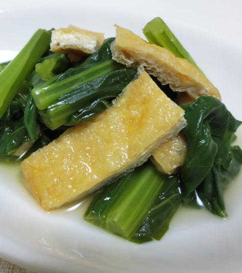 小松菜とお揚げの炊いたん  大 (2)