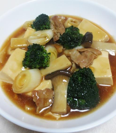 豆腐とブロッコリーの中華煮込み拡大