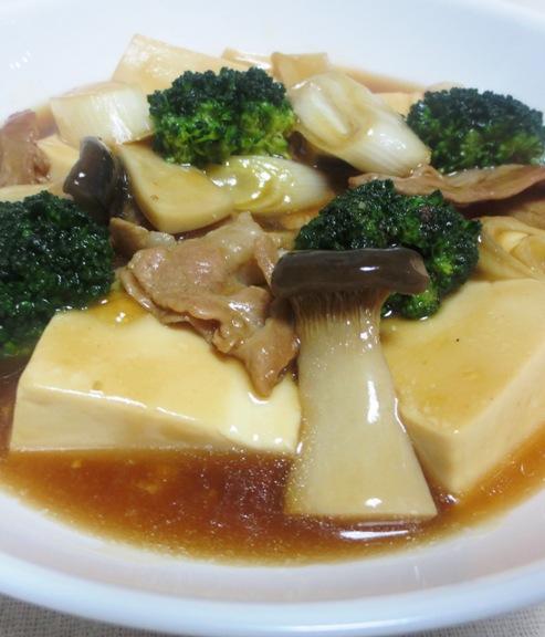 豆腐とブロッコリーの中華煮込み大
