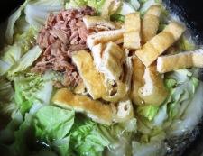 白菜とツナの炊いたん 調理②