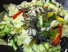 タラとキャベツの塩昆布炒め 調理④