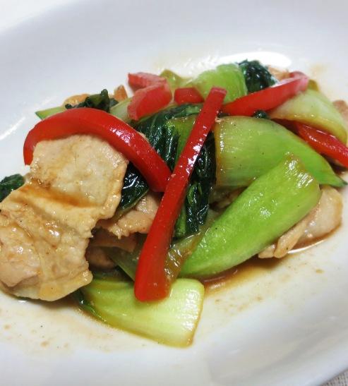 青梗菜と豚肉の炒め B