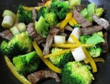 牛肉のタバスコ黒胡椒炒め 調理④