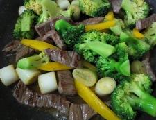 牛肉のタバスコ黒胡椒炒め 調理⑤
