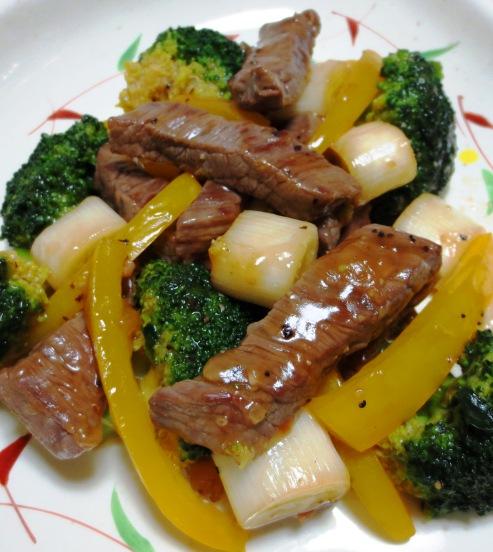 牛肉のタバスコ黒胡椒炒め 大