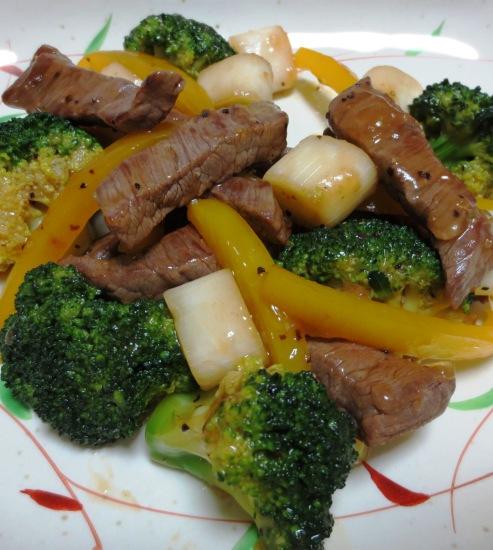 牛肉のタバスコ黒胡椒炒め B