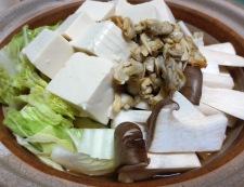 あさり豆腐 調理①
