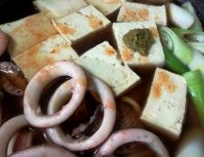 イカ豆腐のタバスコ柚子胡椒煮 調理⑥