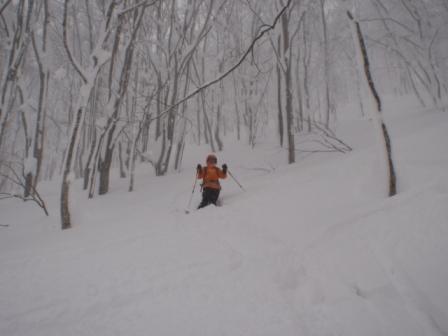 20110108八甲田山スキー裏山にて