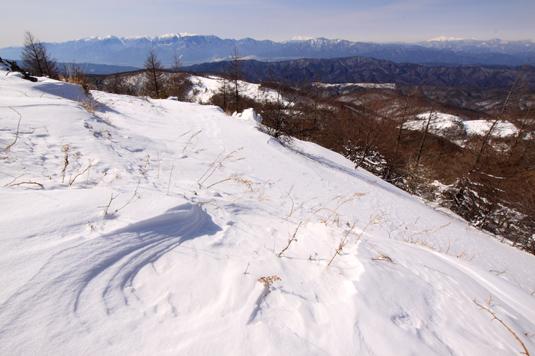 中央アルプス・御岳・乗鞍の眺望