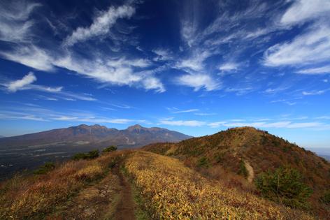 八ヶ岳と平沢山を振り返り見る